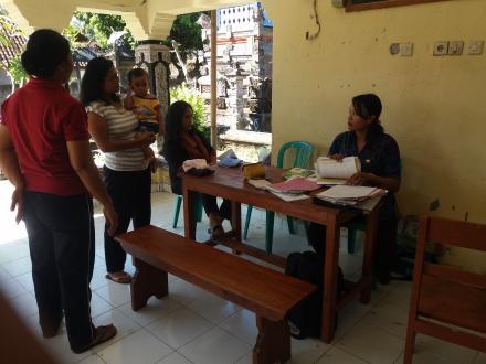 Kegiatan Rutin Posyandu Balita dan Lansia Banjar Dinas Kubuanyar Desa Pacung