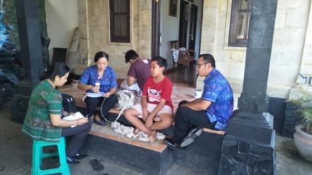 Kunjungan Petugas Puskesmas Tejakula II Ke Rumah Penderita DB